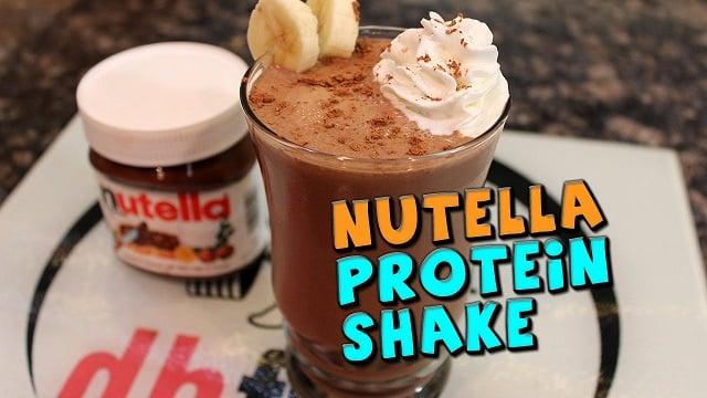 nutella protein shake