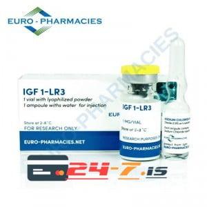 IGF 1-LR3 Euro-Pharmacies 1 vial + 1 amp solvent [1mg]