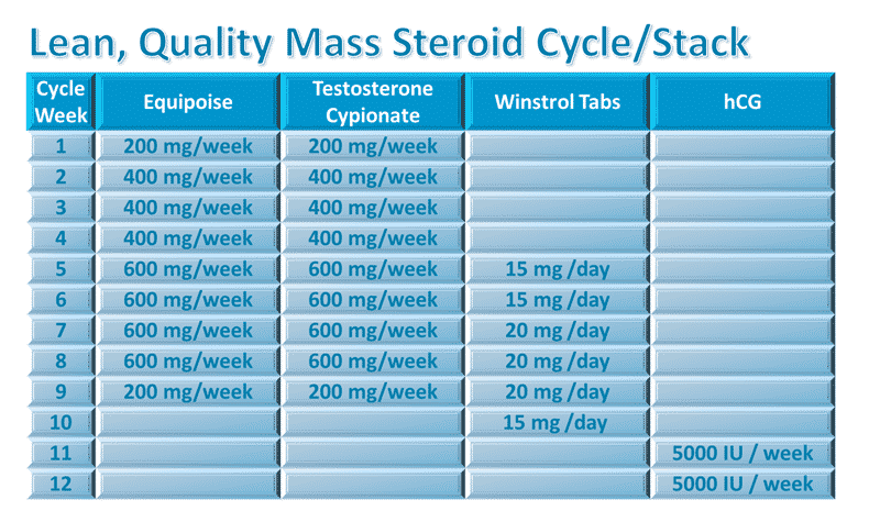 Mass Steroid Cycle
