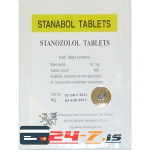 Stanabol Tablets British Dragon 100 tabs [10mg/tab]