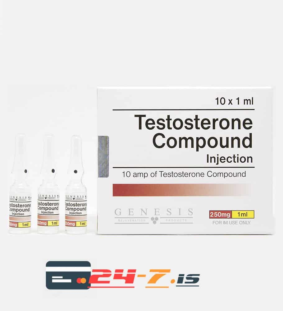 Testosterone Compound Injection Genesis 10 amps [10x250mg/1ml]